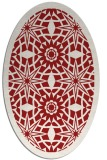 rug #1137927 | oval red graphic rug