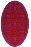 rug #1137931 | oval red graphic rug
