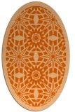 rug #1137939 | oval red-orange borders rug