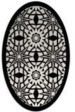 rug #1137951 | oval black graphic rug