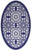 rug #1137959 | oval white borders rug