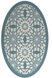 rug #1137971 | oval white borders rug
