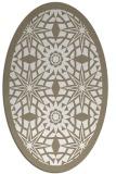 rug #1137975 | oval white borders rug