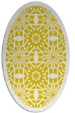 rug #1137987 | oval yellow graphic rug