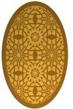 rug #1137991 | oval light-orange borders rug