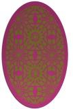 rug #1138007   oval pink borders rug