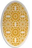 rug #1138015 | oval light-orange graphic rug