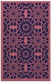 rug #1138123 |  blue-violet geometry rug