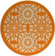 rug #1138399 | round orange borders rug