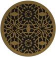 rug #1138419 | round black graphic rug
