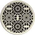 rug #1138423 | round black borders rug