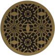 rug #1138427 | round brown borders rug