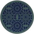 rug #1138439   round blue-green graphic rug