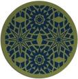 rug #1138443 | round blue geometry rug