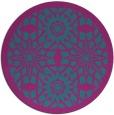 rug #1138479   round blue-green graphic rug