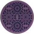 rug #1138495   round purple borders rug