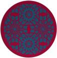 rug #1138519 | round blue-green rug