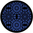 rug #1138599   round black graphic rug