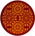 rug #1138607 | round red-orange borders rug