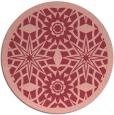 rug #1138631 | round pink borders rug