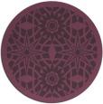 rug #1138639   round purple borders rug