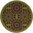 rug #1138643 | round green geometry rug