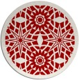rug #1138655 | round red rug