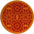 rug #1138659   round orange borders rug