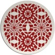 rug #1138663 | round red graphic rug