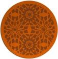 rug #1138679   round red-orange borders rug