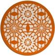 rug #1138683 | round red-orange graphic rug