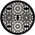 rug #1138687 | round black graphic rug