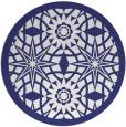 rug #1138695 | round blue borders rug