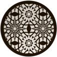 rug #1138699 | round brown borders rug