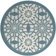 rug #1138707   round blue-green borders rug