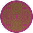 rug #1138743 | round pink borders rug