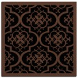 rug #1139151 | square black damask rug