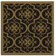 rug #1139155 | square black damask rug