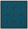rug #1139199 | square blue-green damask rug