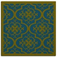 rug #1139211 | square green traditional rug