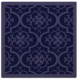 rug #1139219 | square blue-violet damask rug