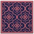 rug #1139227 | square blue-violet damask rug