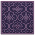 rug #1139231 | square blue-violet damask rug