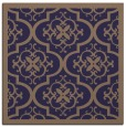 rug #1139239 | square blue-violet damask rug