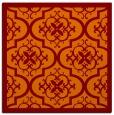 rug #1139343 | square red-orange borders rug