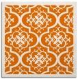 rug #1139347 | square orange damask rug