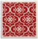 rug #1139391 | square red traditional rug