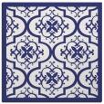 rug #1139431 | square blue damask rug