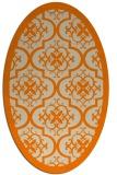 rug #1139503   oval orange damask rug