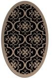 rug #1139515 | oval beige damask rug